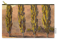 Autumn Poplars Carry-all Pouch