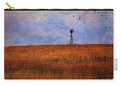 Autumn Prairie Windmill Carry-all Pouch