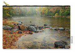 Autumn Rain Gauley River Carry-all Pouch by Thomas R Fletcher
