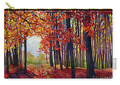 Carry-all Pouch featuring the painting Autumn Rapture by Hailey E Herrera