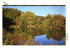 Carry-all Pouch featuring the photograph Autumn Reflection by Angie Tirado