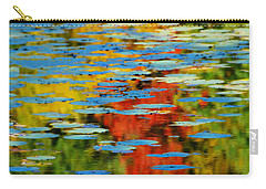 Carry-all Pouch featuring the photograph Autumn Lily Pads by Diana Angstadt