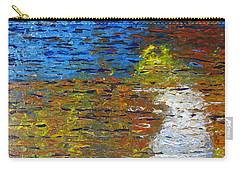 Carry-all Pouch featuring the painting Autumn Reflection by Jacqueline Athmann