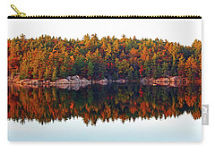 Carry-all Pouch featuring the photograph   Autumn Reflections by Debbie Oppermann