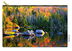 'autumn Reflections - Noyes Pond' Carry-all Pouch