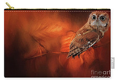 Autumn Screech Owl Carry-all Pouch by Suzanne Handel