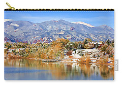 Autumn Snow At The Lake Carry-all Pouch by Diane Alexander
