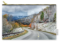 Autumn Snow Highland Scenic Highway Carry-all Pouch by Thomas R Fletcher