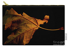 Autumn Solitary Leaf Carry-all Pouch