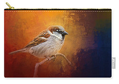 Autumn Sparrow Carry-all Pouch by Jai Johnson