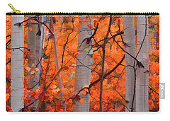 Carry-all Pouch featuring the photograph Autumn Splendor by Don Schwartz