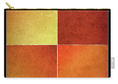 Autumn Squares Carry-all Pouch by Bonnie Bruno