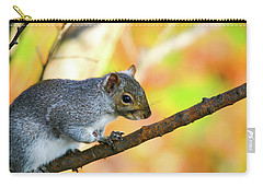 Carry-all Pouch featuring the photograph Autumn Squirrel by Karol Livote