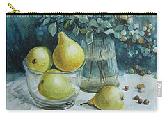 Carry-all Pouch featuring the painting Autumn Still Life 3 by Elena Oleniuc
