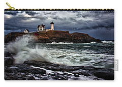 Autumn Storm At Cape Neddick Carry-all Pouch by Rick Berk