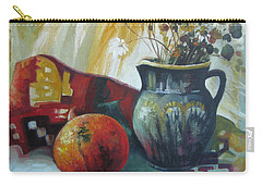 Carry-all Pouch featuring the painting Autumn Story by Elena Oleniuc