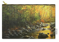 Carry-all Pouch featuring the painting Autumn Stream by Kim Lockman