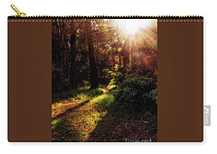 Carry-all Pouch featuring the photograph Autumn Sunburst And Shadows By Kaye Menner by Kaye Menner