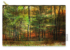 Autumn Sunset - In The Woods Carry-all Pouch by Judy Palkimas