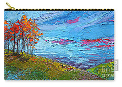 Autumn Sunset - Modern Impressionist Palette Knife Oil Painting Carry-all Pouch