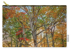 Carry-all Pouch featuring the photograph Autumn Sunset Through The Trees by Rick Berk