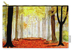 Carry-all Pouch featuring the painting Autumn Trail by Yoshiko Mishina