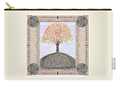 Autumn Tree Of Life Carry-all Pouch by Lise Winne