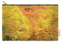 Autumn Tree Tunnel Carry-all Pouch
