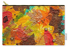 Autumn Leaves Underfoot Carry-all Pouch by Michele Myers