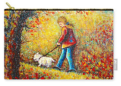 Carry-all Pouch featuring the painting Autumn Walk  by Natalie Holland