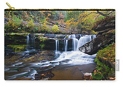 Carry-all Pouch featuring the photograph Autumn Waterfall by Steve Stuller