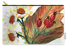 Autumn Wild Flowers Bouquet Carry-all Pouch