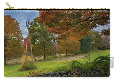 Carry-all Pouch featuring the photograph Autumn Windmill by Bill Wakeley