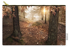 Carry-all Pouch featuring the photograph Autumn Woodland by Robin-Lee Vieira