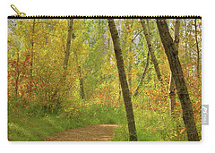 Carry-all Pouch featuring the photograph Autumn Woodlands by Jim Sauchyn