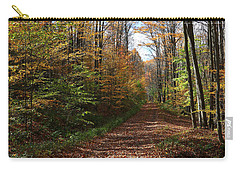 Autumn Woods Road Carry-all Pouch