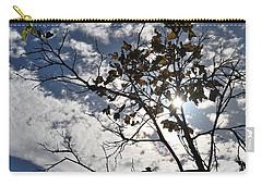 Autumn Yellow Back-lit Tree Branch Carry-all Pouch by Matt Harang