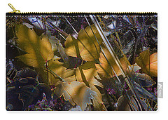 Carry-all Pouch featuring the digital art Autumn Yellow by Stuart Turnbull