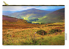 Carry-all Pouch featuring the photograph Autumnal Hills. Wicklow. Ireland by Jenny Rainbow