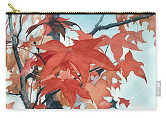 Carry-all Pouch featuring the painting Autumn's Artistry by Barbara Jewell