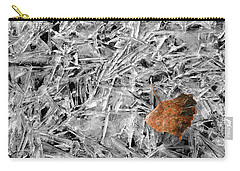 Carry-all Pouch featuring the photograph Autumn's End by Marie Leslie