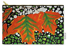 Carry-all Pouch featuring the painting Autumns Kiss by Kathleen Sartoris