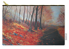 Autumns Pathway Carry-all Pouch by Leslie Allen