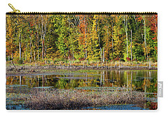Carry-all Pouch featuring the photograph Autumns Quiet Moment by Karol Livote