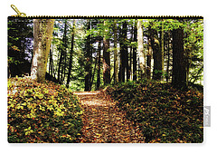 Carry-all Pouch featuring the photograph Autumn's Trail by Trina Ansel