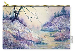 Autumnscape In Purple Carry-all Pouch