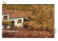 Autunno Rosso Carry-all Pouch by Guido Borelli