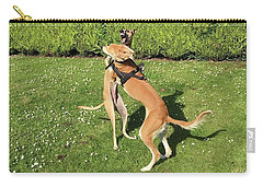 Ava The Saluki And Finly The Lurcher Carry-all Pouch