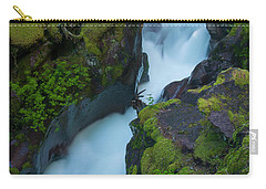 Carry-all Pouch featuring the photograph Avalanche Gorge 6 by Gary Lengyel