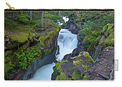 Carry-all Pouch featuring the photograph Avalanche Gorge 7 by Gary Lengyel